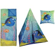 Disney Finding Dory Teepee Play Tent and Slumber Bag with Bonus Pillow