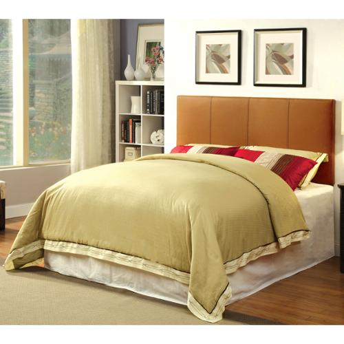 Furniture of America Kutty Adjustable Upholstered Conversion Headboard Camel - Twin