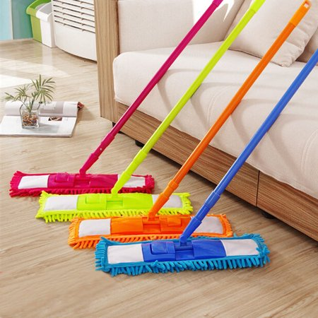 Meigar Microfiber Super Absorbent Noodle Dust Mop Telescoping with Handle Telescoping Pole Floor Cleaner Hardwood Floor Laminate Cleaner Duster Sweeper All Surface