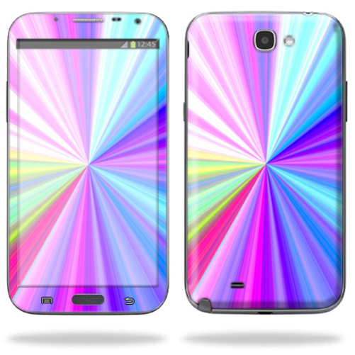 Mightyskins Protective Skin Decal Cover for Samsung Galaxy Note 2 II N7100 A991 Cell Phone wrap sticker skins Rainbow Zoom
