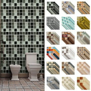 10-100pcs Peel and Stick Tile Backsplash Self-Adhesive Decorative Waist Line Mosaic Tiles for Kitchen and Bathroom