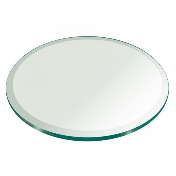 72 Inch Round Glass Table Top 3 4 Inch Thick Clear Tempered Glass With Beveled Edge Polished Walmart Com Walmart Com