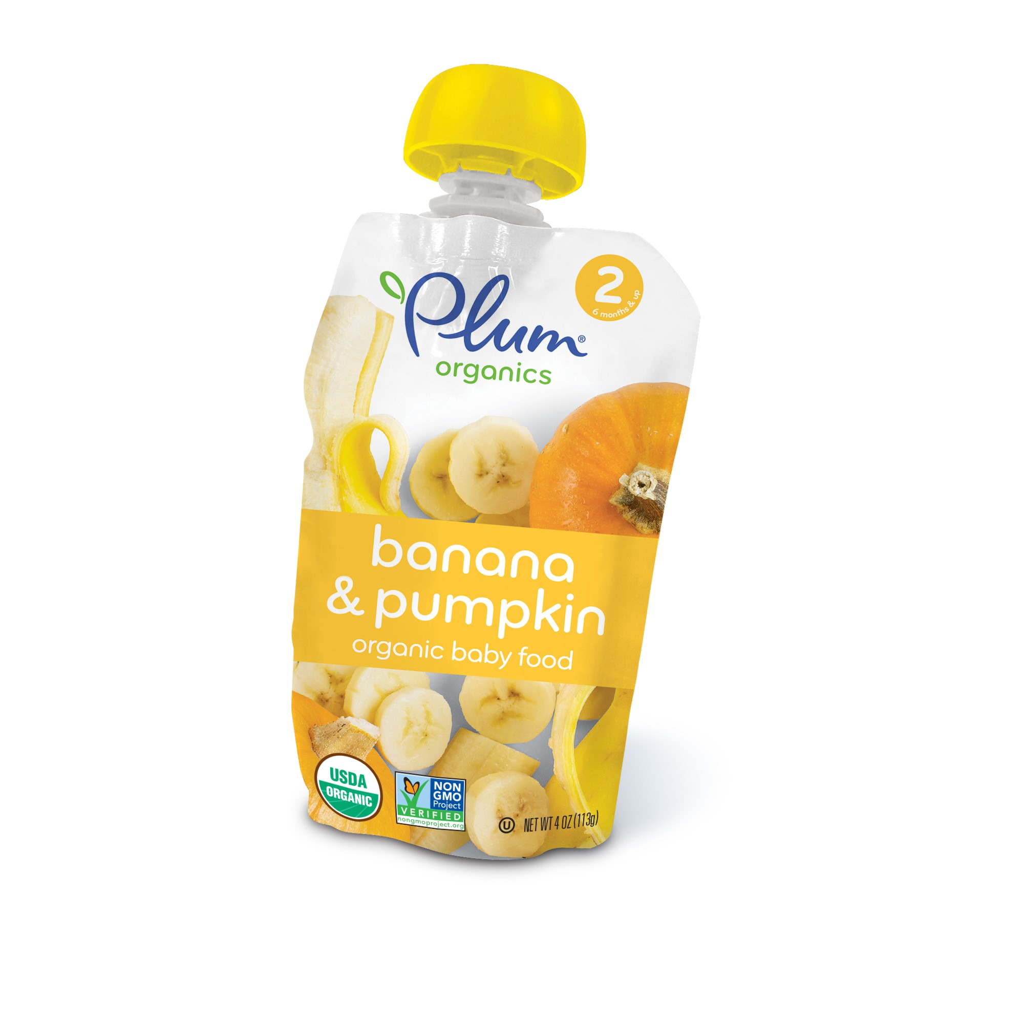 Plum Organics Organic Baby Food, Stage 2, Pumpkin & Banana, 4 Oz