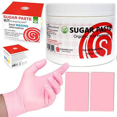 Sugaring Hair Removal Kit by Sugaring NYC - Best Waxing Alternative 100% Certified