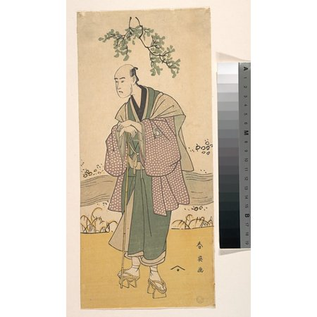 The Third Bando Hikosaburo As A Man Standing On The Bank Of A River Poster Print By Katsukawa Shunei  Japanese 1762   1819   18 X 24