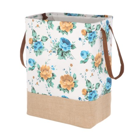 Pioneer Woman Rectangle Canvas Hamper - White Floral