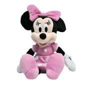 Disney Minnie Mouse 11 inch Child Plush Toy Stuffed Character Doll in Pink Dress