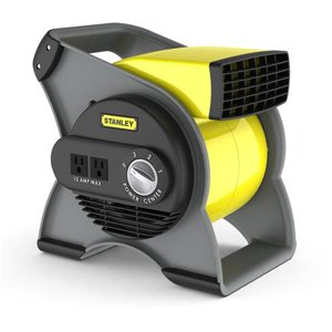 Stanley High Velocity Blower 3-Speed Fan, Model #655704, Black|Yellow