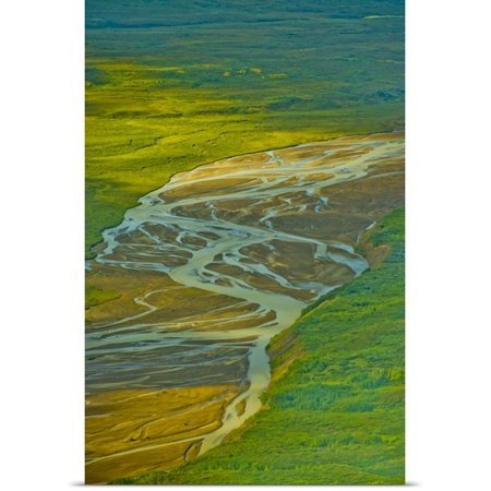 Great Big Canvas Jerry Ginsberg Poster Print Entitled Pacific Northwest  Alaska  Above Katmai National Park