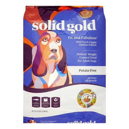 Solid Gold Fit and Fabulous Alaskan Pollock Dry Dog Food, 24 lb ()