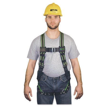Honeywell Miller DuraFlex Stretchable Harnesses,Back DRing,Tongue Leg;Friction Shldr;Mating Chest