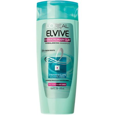 (2 Pack) L'Oreal Paris Elvive Extraordinary Clay Rebalancing Shampoo 12.6 FL