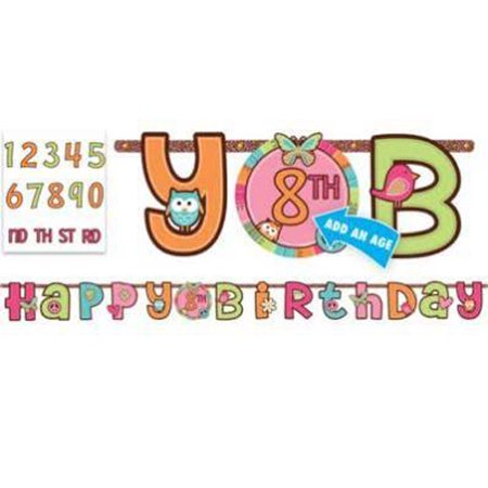 Hippie Chick Jumbo Letter Banner Kit (1ct)