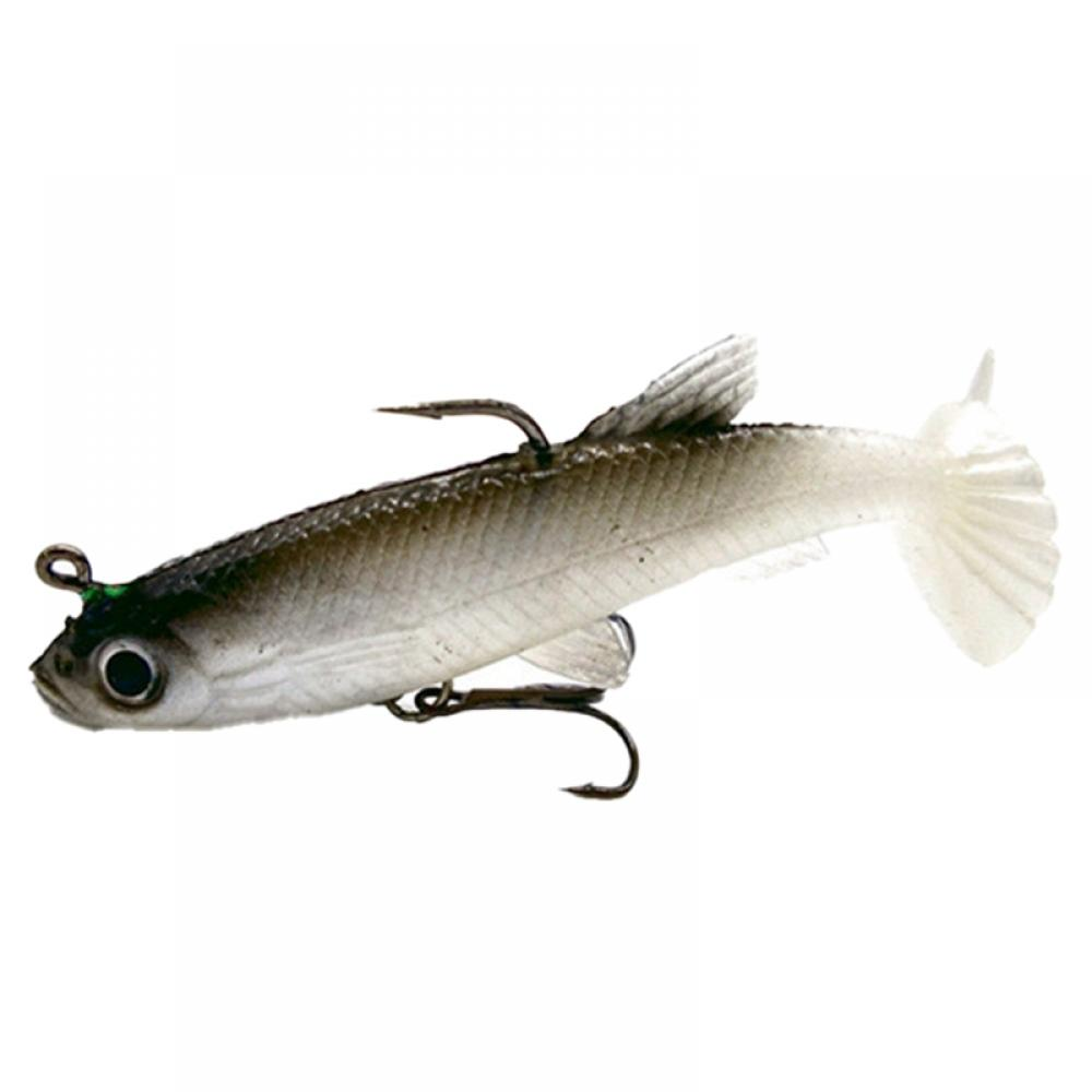 6 X Gray Blue Trout Soft Lures 8cm  Fishing Bait Tackle
