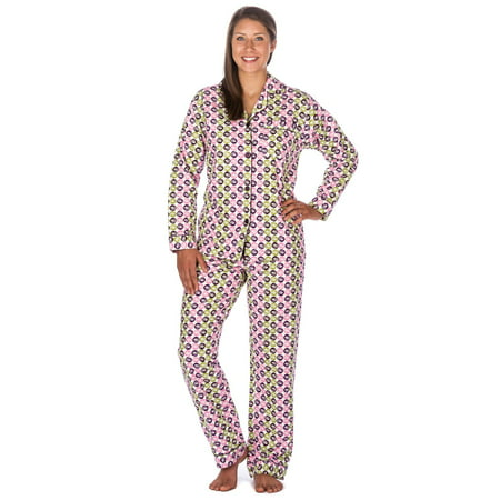 Noble Mount - Noble Mount Womens Premium 100% Cotton Flannel Pajama  Sleepwear Set - Walmart.com 8b7724ba8