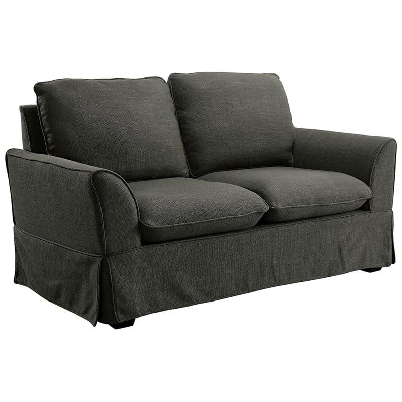 Furniture of America Osilla Loveseat in Gray
