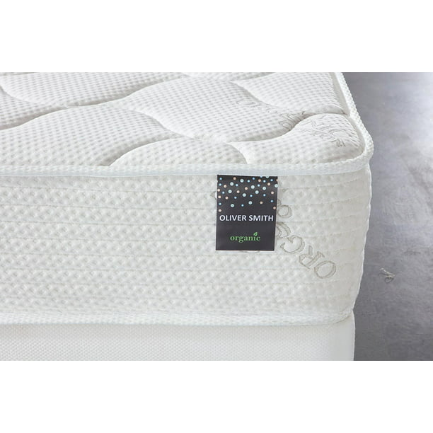 "Oliver Smith® Organic Cotton 10"" Spring & Foam Hybrid Mattress, Firm"