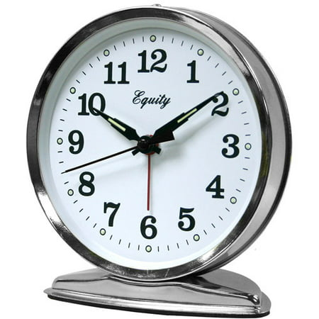 Equity by La Crosse 24014 Wind-Up Loud Bell Alarm Clock Metal Alarm Clock Bells