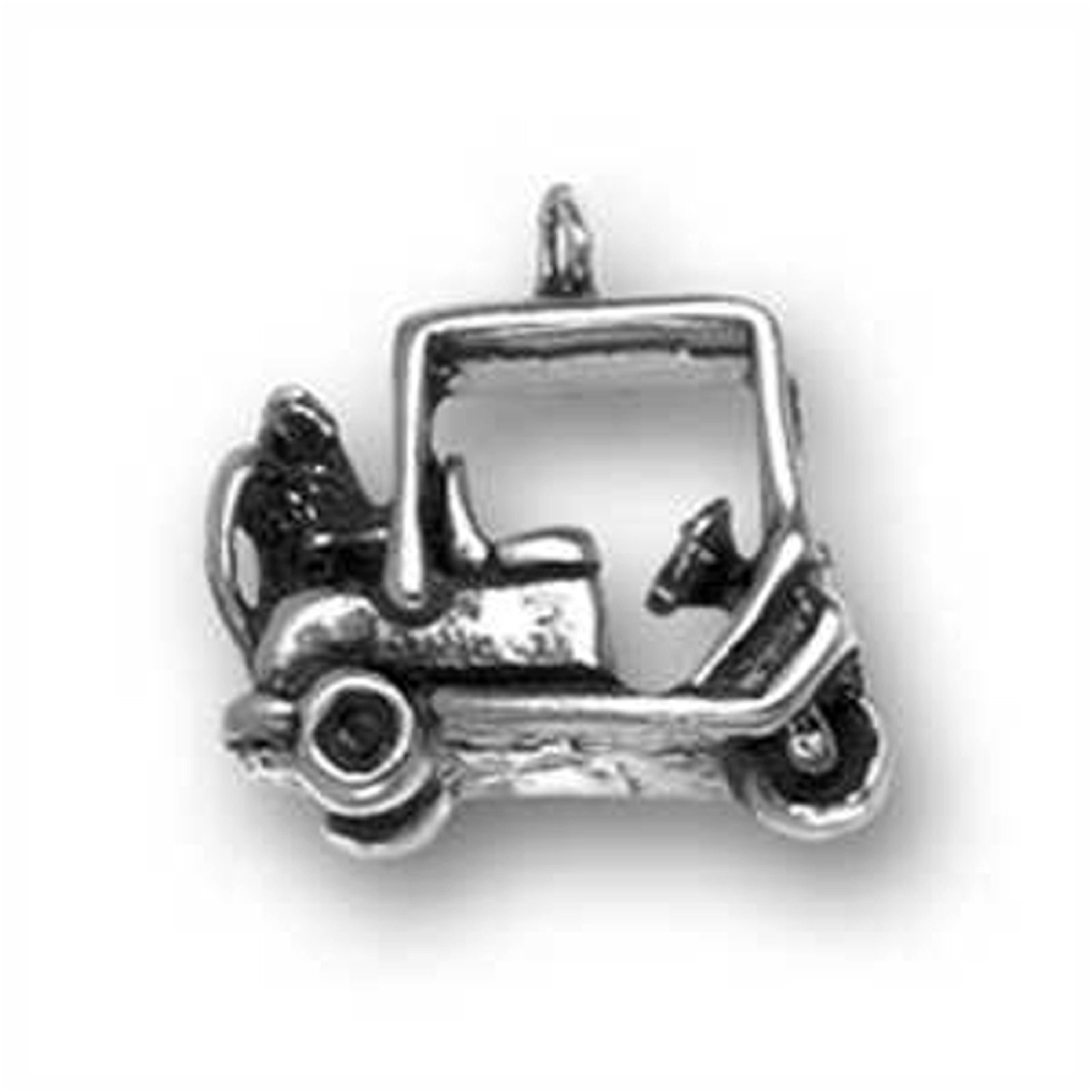 Sterling Silver Girls .8mm Box Chain 3D Classic Guitar Musical Instrument Pendant Necklace