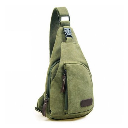 c8d9fc00cd Unisex Men Women Vintage Crossbody Canvas Military Rucksack Shoulder Hiking  Backpack Travel Multipurpose Messenger Bags Small-Olive Green - Walmart.com