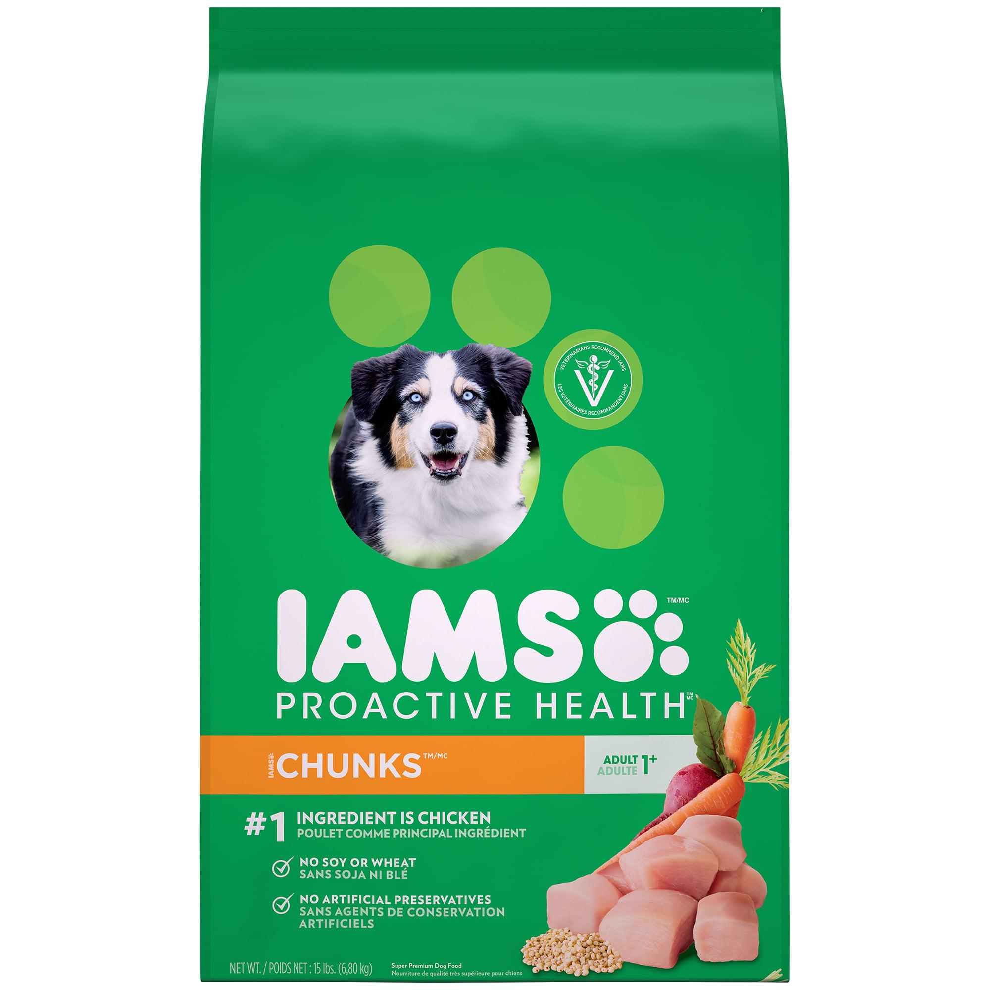 IAMS PROACTIVE HEALTH Adult Chunks Dry Dog Food 15 Pounds by Mars Petcare
