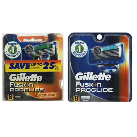 Gillette Fusion ProGlide Refill Cartridge Blades, 8 Count + Gillette Fusion ProGlide Power Refill Cartridge Blades, 8 Count + Beyond BodiHeat Patch, 1 Ct Beyond Beauty Fusion Eye