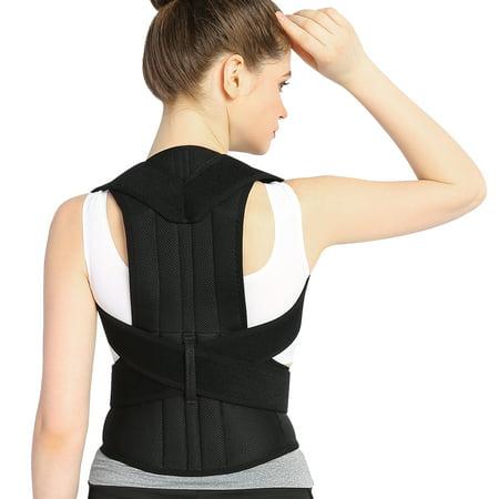 WALFRONT Back Shoulder Support Belt,Breathable Back Support and Lumbar Lower Back Brace Provides Back Pain Relief - Keep Your Spine Safe and Adjustable