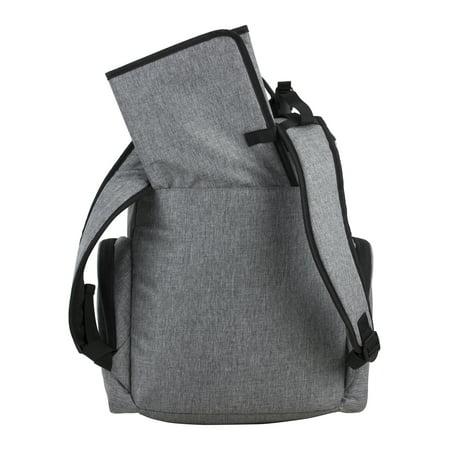 Eastsport Multi-Function Wooster St. Backpack Diaper Bag Gray