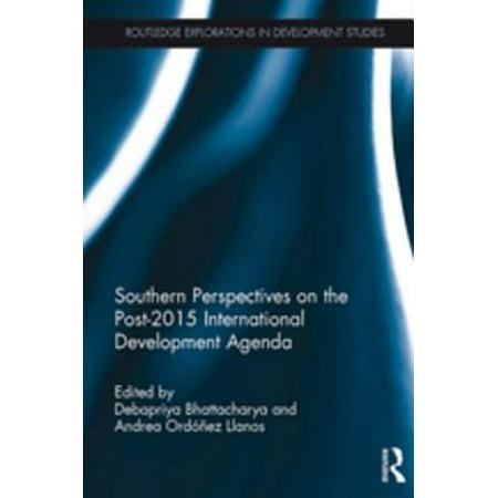 Southern Perspectives on the Post-2015 International Development Agenda - eBook ()