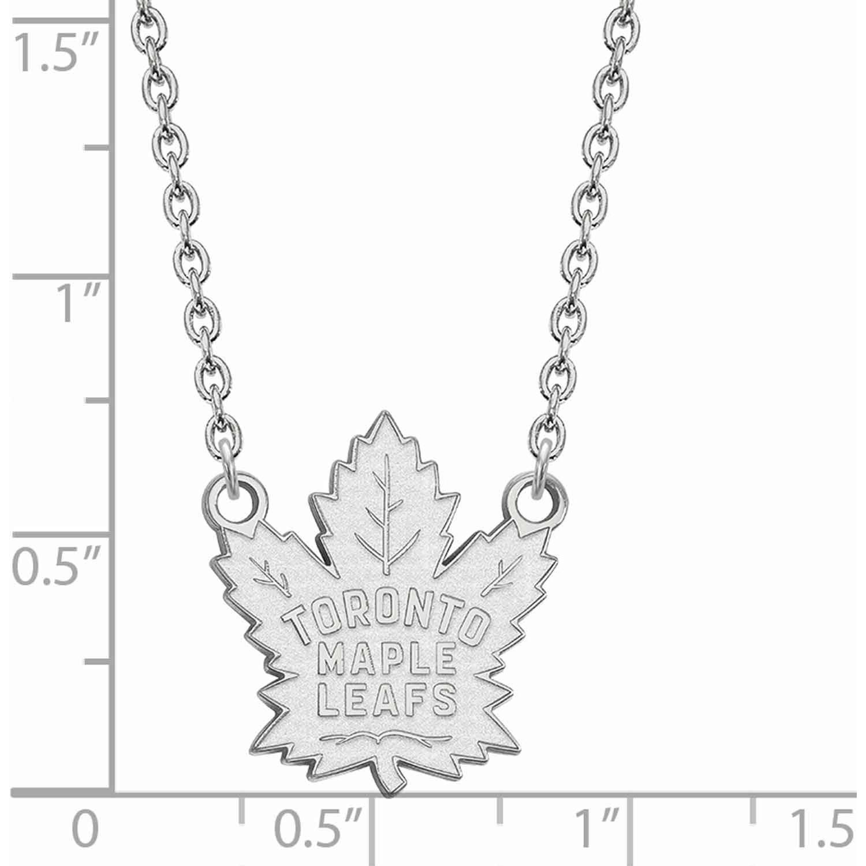 Logoart Logoart Sterling Silver Rhodium Plated Nhl Toronto Maple Leafs Large Pendant With Necklace Walmart Com Walmart Com