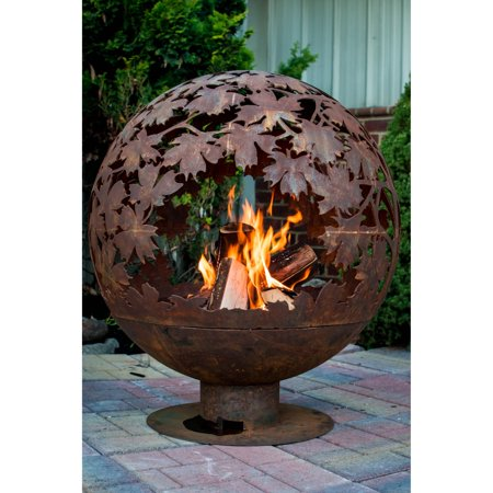 Fancy Flames Leaf Globe Wood Burning Fire Pit - Fancy Flames Leaf Globe Wood Burning Fire Pit - Walmart.com