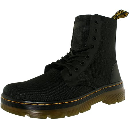 Dr. Martens Men's Combs Nylon Black Ankle-High Canvas Boot - 8M - Kids Red Dr Martens