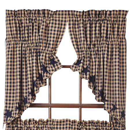 August Grove Diana Scalloped Prairie Swag 36'' Curtain Valance (Set of 2)