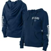 Dallas Cowboys New Era Women's Playmaker Fleece Full-Zip Hoodie - Navy