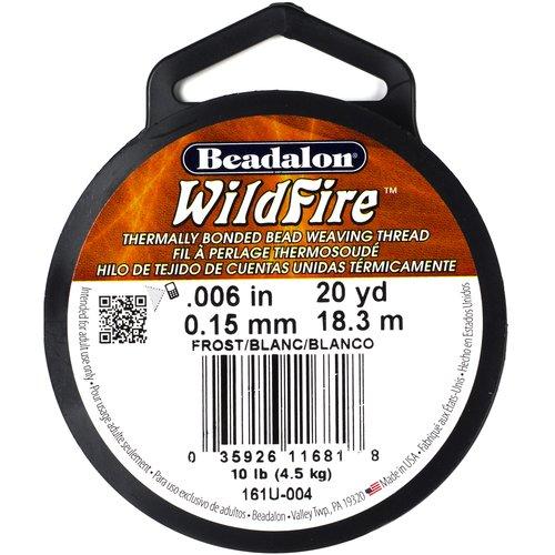 "Beadalon Wildfire 0.006"" Frost Bead-Weaving Thread, 20 Yd."