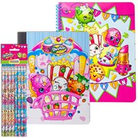 Shopkins Back to School Supply Bundle, 8 Pencils, 1 Spiral Notebook, & 1 Composition Book | Wide Ruled Sheets | First Second Third Fourth Fifth Sixth Seventh Grades