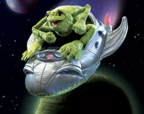 Folkmanis Frog In Spaceship Character Puppet 2837 by Folkmanis