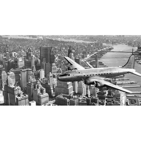 Flying Over Manhattan (Flying over Manhattan NYC Poster Print by)
