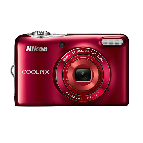 Nikon Red COOLPIX L32 Digital Camera with 20.1 Megapixels and 5x Optical Zoom