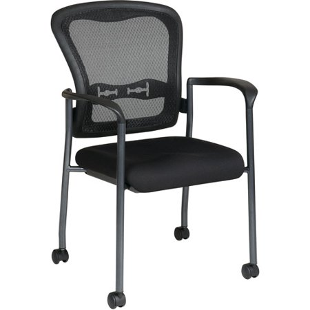 Chair With Wheels >> Office Star Pro Line Ii Progrid Guest Reception Waiting Room Chair With Wheels Titanium