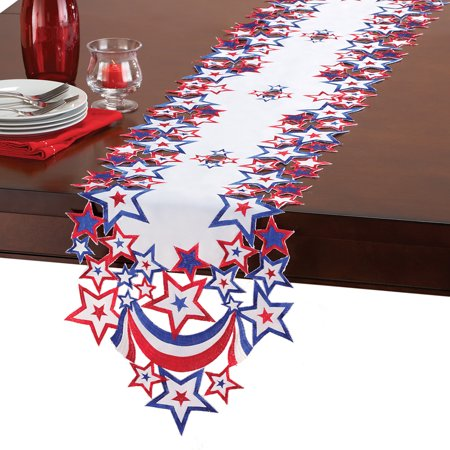4th of July Indoor Decoration Table Linens with Embroidered Patriotic - 4th July Decorations