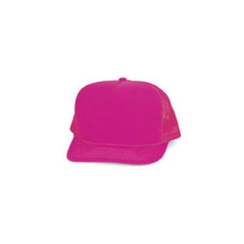 DDI 1474510 Polyester Neon Summer Mesh Cap - Neon Pink Case Of 144
