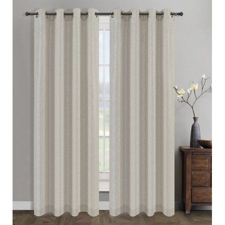 Urbanest Cosmo Solid Semi-Opaque Grommet Curtain Panel (Set of