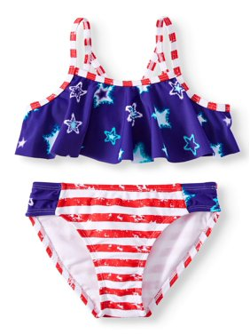 44ec4981474d1 Product Image Americana Flounce Bikini Swimsuit (Little Girls)
