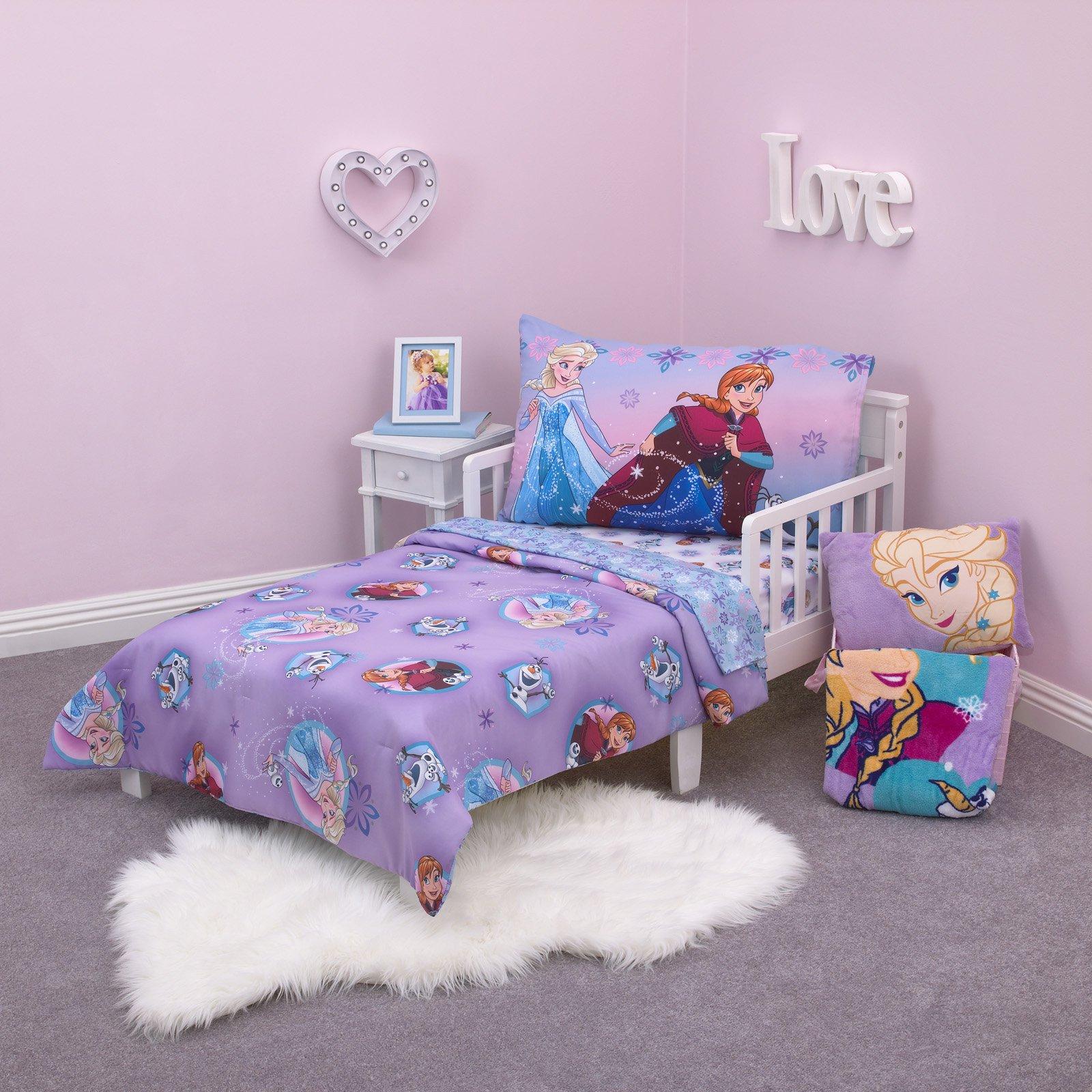 Disney Frozen Stirring up Fun 4 Piece Toddler Bedding Set