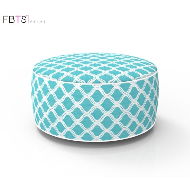 Fbts Prime Outdoor Inflatable Ottoman Blue Round Patio Foot Stools And Ottomans Portable Travel Footstool Used For Outdoor Camping Home Yoga Foot Rest Walmart Com Walmart Com