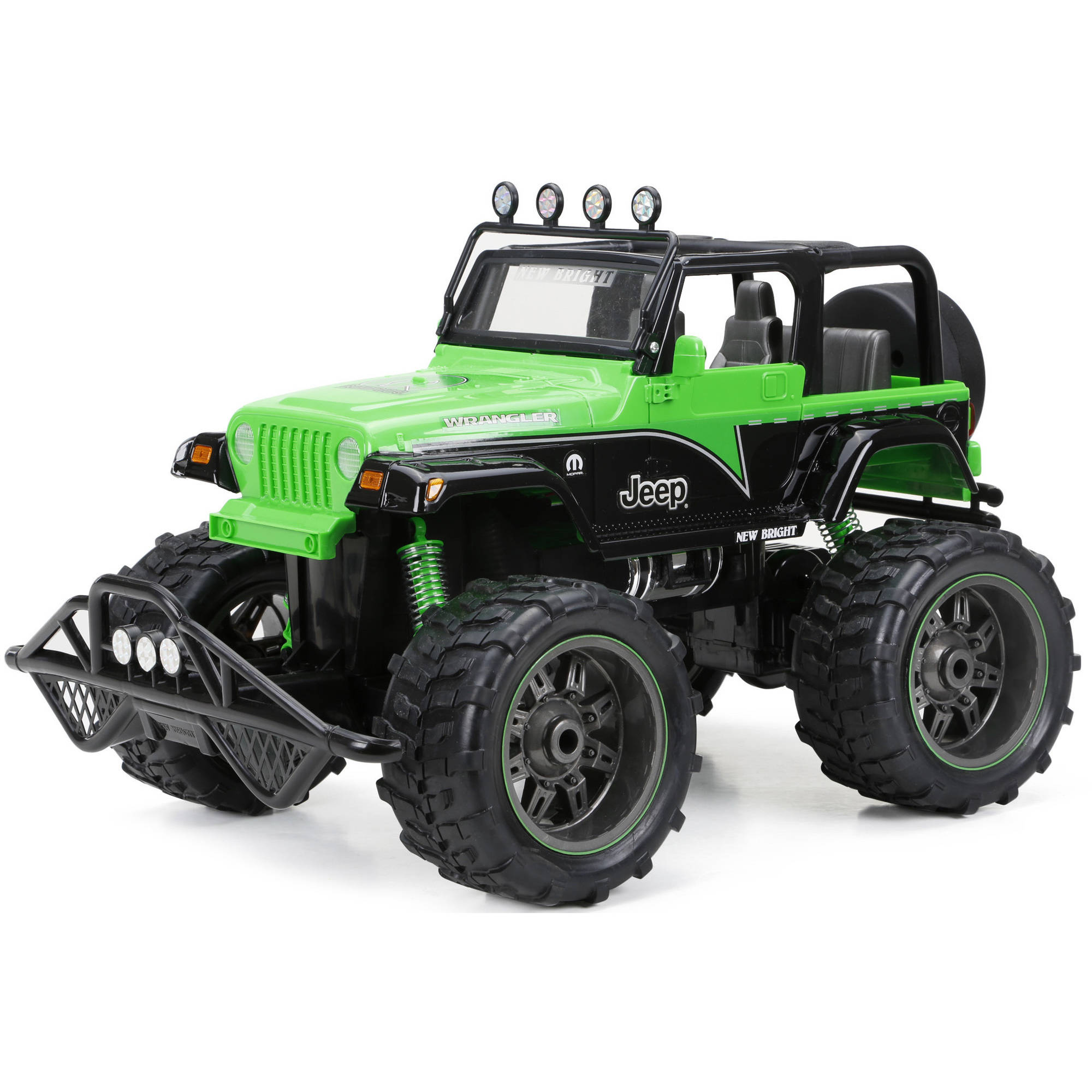 New Bright 1:10 Radio Control Mopar Jeep Truck, Black/Blue