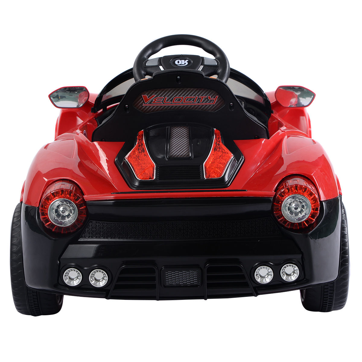 Juguetes Electronicos 12V Battery Powered Kids Ride On Car RC Remote Control w/ LED Lights Music + juguetes electronicos en VeoyCompro.net