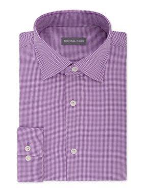 Mens Dress Shirt Plum Button-Front 16 1/2