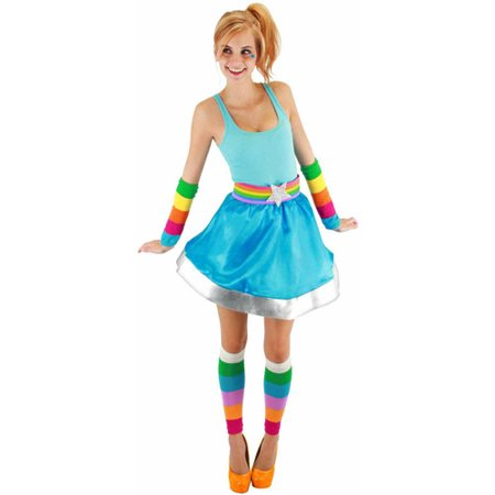 Shiny Brite Halloween (Rainbow Brite Adult Arm and Leg Warmers Halloween)